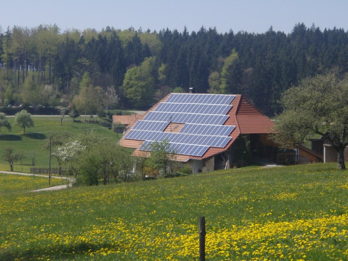 The energiewende made possible the large-scale adoption of solar collectors (here, a farm in the Black Forest)