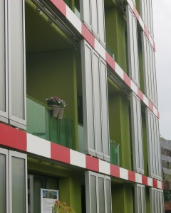 If it weren't for the algae panels, this could be an appartment balcony anywhere