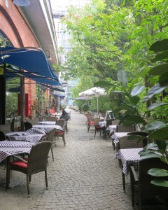 a modest pedestrian alley in Berlin