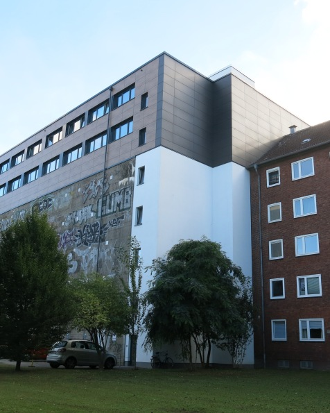 The Marienthaler bunker, converted to energy efficient student housing