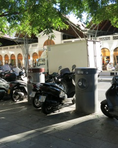 The garbage inlets in front of Sant Catalina market